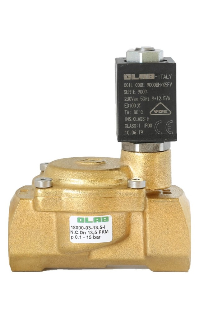 SERIES 18000 N.C. GUIDED DIAPHRAGM PILOT OPERATED SOLENOID VALVES FOR WATER