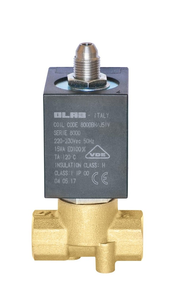 SERIE 8254 L - FOOD & BEVERAGE - N.C. 3/2 SOLENOID VALVES - Direct action