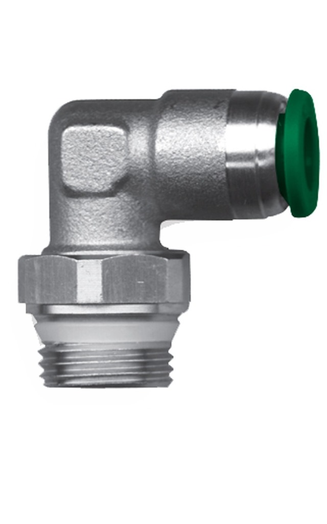 SERIES F100/U [GAS-NPT] Push-in fittings for plastic pipes with plastic sleeve
