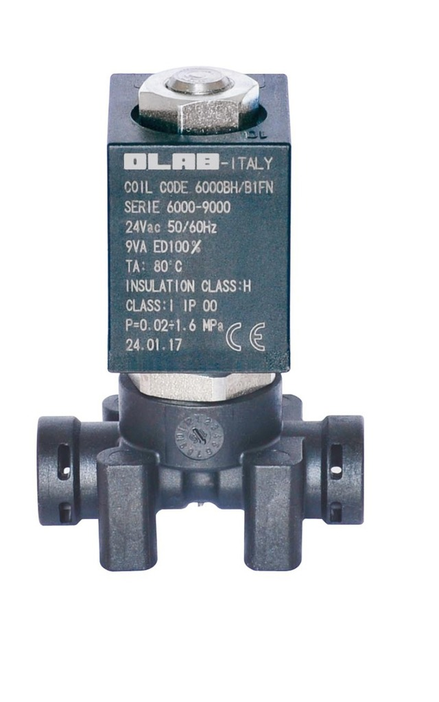SERIES 9950 N.C. 2/2 ways serviceable solenoid valves food-grade thermoplastic - 22mm